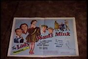 Lady Wants Mink 1952 Half Sheet 22x28 Movie Poster Ruth Hussey