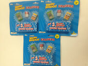 2011 Topps Wacky Packages Erasers Blister Pack 3 Pack Lot