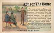 Wallpaper Art For The Home Putnam Fadeless Dyes Quincy Illinois Postcard 1910
