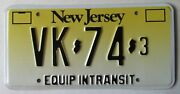 New Jersey 2004 Equipment In Transit License Plate Superb Quality Vk-74-3