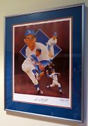 Framed Sandy Koufax Autographed Limited Edition Lithograph Christopher Paluso