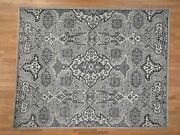 8and0394x10and0396 Silver And Grey Oushak Influence Design Pure Wool Hand-knotted R42247