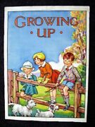 Barbara Spurr 1930's Childrens Book Cover Painting Growing Up