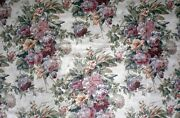 Vtg Western Textile Floral Fabric Sateen Polished Cotton 100 Cotton 6 Yards