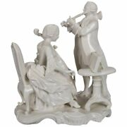 Rococo Blanc De Chine Porcelain Figural Grouping Of Colonial Musicians