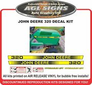 John Deere 320 Hydraulic Lift Lawn Tractor Hood Replacement Decal Kit