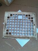 Antique Heating Register Grill Wall Mount Rare 12 By 10 Hole For Damper
