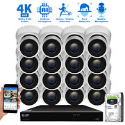 16 Channel Nvr 16 X 4k Outdoor Indoor Microphone Turret Security Camera System