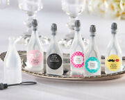 120 Personalized Champagne Bubble Bottles Bridal Shower Wedding Favors