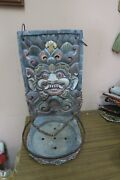 Vintage Carved Wood Figurative Balinese Indonesian Temple Incense Offering Mask