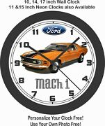 1970 Ford Mustang Mach 1 Wall Clock-free Usa Ship-other Colors Available