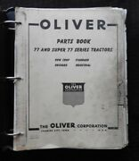 Genuine 1957-1958 Oliver 77 And Super 77 Tractor Parts Catalog Manual Very Good