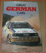 Great German Cars Roberts1985 96 Page Color Picture Hardbound Book New Sale