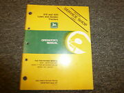 John Deere 318 And 420 Lawn And Garden Tractor Owner Operator Manual Book Omm75855