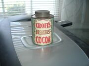 1900's Croft's Cocoa Empty Can Philadelphia Pa Croft And Allen Co. Strong Label