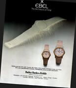 1984 Ebel Watches At Bailey Banks And Biddle Jewelers Vintage Print Ad 1020