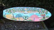 Tropical Intentions Tropical Surfboard Art Decorative Tiki Beach Pool Sign