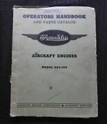 Franklin 4ac-199 0-200 Aircraft Engine Overhaul Parts Manual Piper Pa-7 Stinson