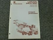Koehring Lorain Mch350 Crane Specifications And Lifting Capacities Manual