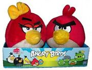 Angry Birds Red Angry Girl Andamp Boy 4-inch Plush 2-pack