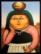 David Bradley Homage To Botero Hand Signed Lithograph Western Art Make Offer