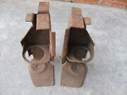 Nos Ford Chevy Jeep Truck Bed Cab Radiator Support Reinforcement Pair