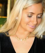 Kate Spade Cluster Putting On The Ritz Crystal Stud Pink Earrings And Necklace Set