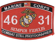 4.5 Marine Corps Mos 4631 Combat Still Photographer Ega Embroidered Patch