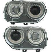 Ch2503267 Ch2502267 New Headlight Lamp Driver And Passenger Side Lh Rh For Dodge