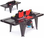 55693 Router Table Electric Spindle Moulder Work Bench Benchtop Lift Precision