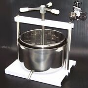Stainless Fruit Press 12l Crusher Juicer Apple Wine Cider Press Extractor 55318