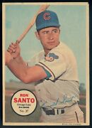 1968 Topps Opc O Pee Chee Canada Pin-ups Poster 27 Ron Santo Vg-ex Chicago Cubs