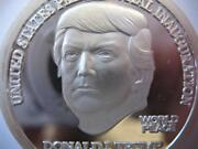 1-oz.999 Silver Trump Norfed Proof Like Coin President Inauguration Coin+gold