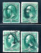 Selection Of Us Classic Postage Stamps W/attractive 1800s Fancy Cancels
