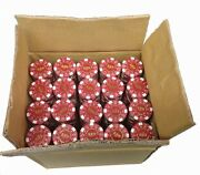 1000 Desert Palace 5 Red Clay Composite Poker Chips 11.5gr Great Deal