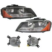 Headlight Kit For 2009-2013 Audi A3 For Models With Sport Package 4pc