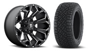 20x10 Fuel D546 Assault 35 At Wheel And Tire Package 8x180 Chevy Silverado