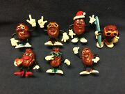 California Raisins Set Of 7 Assorted Figures 1987 - 1988 Some Applause Branded