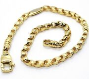 Solid 18k Yellow Gold Bracelet, 21 Cm, 8.3 Inches, 3 Mm Drop Tube Link, Polished