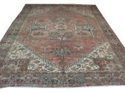 Authentic Handmade Wool Rnr-6 8and039 2 X 11and039 5 Persian Heriz Rug