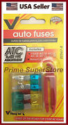 Pack Ato /standard Blade Fuse Box Kit Fuses 10 15 20 25 30 Amp Fix Tool /puller