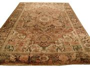 Authentic Wool Rnr-6485 7and039 1 X 11and039 0 Persian Heriz Rug