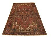 Authentic Wool Rnr-6463 4and039 7 X 7and039 3 Persian Heriz Rug