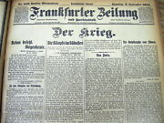 Sept 1914 Bound Volume Ww I Germany Newspapers Paris Savedby Battle Of The Marne