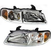 Headlight Set Left And Right For 2002-2003 Nissan Sentra Ca Gxe Xe Limited Model
