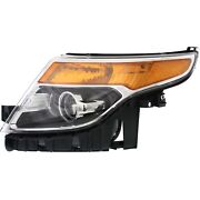 Headlight For 2013 2014 2015 Ford Police Interceptor Utility Left With Bulb
