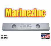 Zhc-50 Bolt On Boating Cathodic Hull Anodes Zinc 2 X 4 X 24 With 5/8 Slots 12