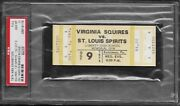 Oct 9 1974 Aba Basketball Squires/st Louis Spirits 1st Year Unused Ticket Nm