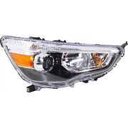 Headlight For 2011-2018 Mitsubishi Outlander Sport Right With Bulb Capa