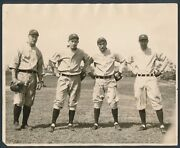 1927 Yankees Infield Group Photo With Lou Gehrig Vintage Baseball Masterpiece